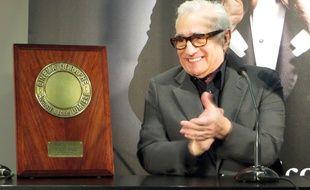 Le réalisateur Martin Scorsese lors d'un entretien avec les journalistes. Le 16 octobre 2015, il s'est vu remettre à Lyon le prix Lumière lors du festival Lumière. C.Girardon / 20 Minutes