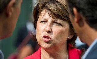 Martine Aubry maire de Lille, candidate aux primaires du PS (Parti Socialiste) à l'election présidentielle de 2012.