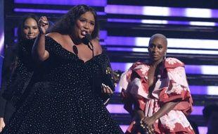 Lizzo pendant les Grammy Awards le 26 janvier 2020