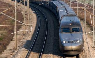 Un TGV sur la ligne à grande vitesse Atlantique.