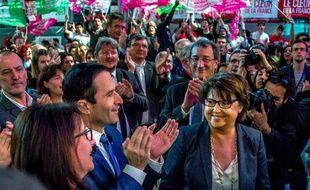 Benoît Hamon et Martine Aubry en meeting à Lille.