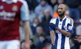 """Le footballeur français Nicolas Anelka a été mis en accusation mardi par la Fédération anglaise (FA) pour une """"quenelle"""" considérée par certains comme un geste antisémite, et encourt désormais une lourde suspension."""