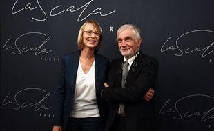 Nyssen et son époux lors de l'inauguration de la Scala à Paris, le 11 septembre 2018.