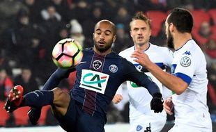 Lucas lors du match entre le PSG et Bastia le 7 janvier 2017.