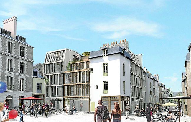 Cinq immeubles de la place sont concernés par le projet de rénovation.