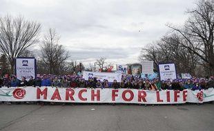 Plusieurs dizaines de milliers de personnes opposées à l'avortement ont participé à la March for Life, le 27 janvier 2017, à Washington.