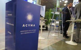 Le stand d'Acyma, au Forum international de la Cybersécurité, à Lille.