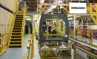Crespin, le 6 fevrier 2009. L'usine du fabricant de materiel ferroviaire Bombardier ou sont assemblees les rames du Francilien ou du TER.