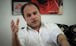 Antoine Foucher, chef de mission de Médecins sans Frontières, à Amman (Jordanie), le 26 février 2012.