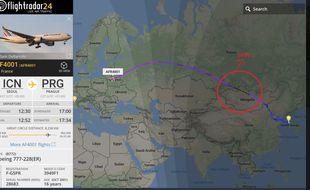 L'avion de la délégation française a connu un léger contretemps