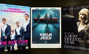 A most violent year, The Riot Club, Cold in July.