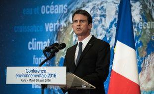 Manuel Valls, le 26 avril 2016 lors de la conférence environnementale.