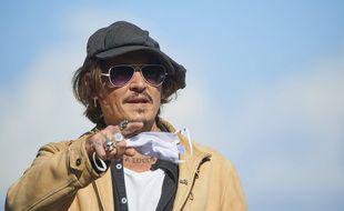 Johnny Depp au Festival de Saint-Sébastien, en septembre 2020.