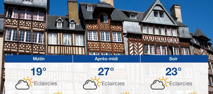 Météo Rennes: Prévisions du vendredi 23 août 2019