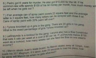 Le contrôle de maths le plus étonnant de l'histoire...