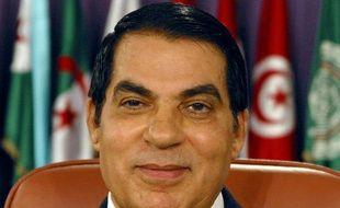 L'ex-président tunisien, Ben Ali, en 2004.