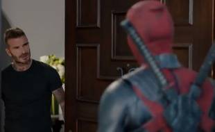 Capture d'écran / Clip promotionnel de «Deadpool 2» avec David Beckham.