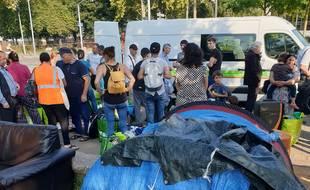 L'évacuation du camp des canonniers le 27 août à Strasbourg s'est déroulée dans le calme.