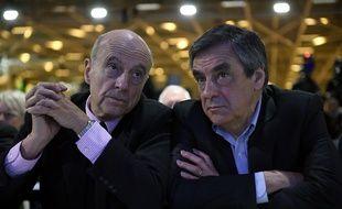 Alain Juppé et François Fillon, les deux finalistes de la primaire de la droite.