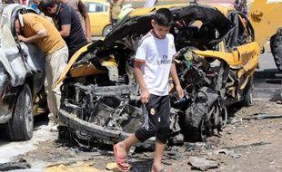 Attentat à la voiture piégée le 13 mai 2014 dans le quartier Sadr à Bagdad