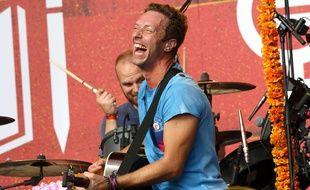 Chris Martin et Coldplay en concert au Global Citizen Festival, le 26 septembre 2015.