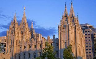Un temple mormon à Salt Lake City (Utah).