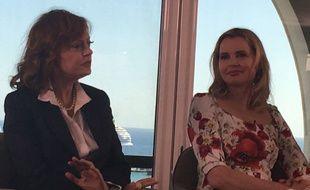 Susan Sarandon et Geena Davis au Talk de Women In Motion ce dimanche 15 mai 2016.