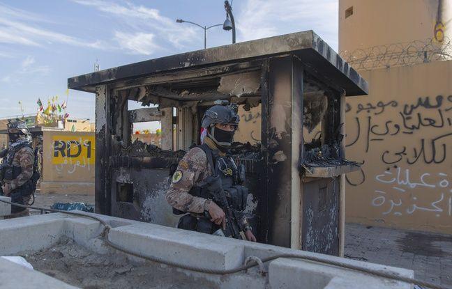 648x415 des soldats irakiens devant l ambassade americaine a bagdad le 1er janvier 2020 illustration