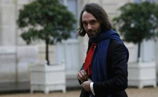 Le mathématicien français Cédric Villani, Médaille Fields, arrive à l'Elysée pour rencontrer le président François Hollande le 30 mai 2016
