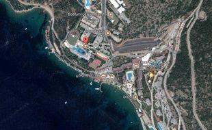Vue aérienne de l'hôtel à Bodrum.