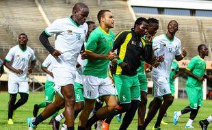 Les joueurs du Zimbabwe à l'entraînement le 6 janvier 2017.