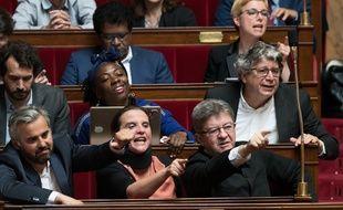 Le groupe de LFI à l'Assemblée.