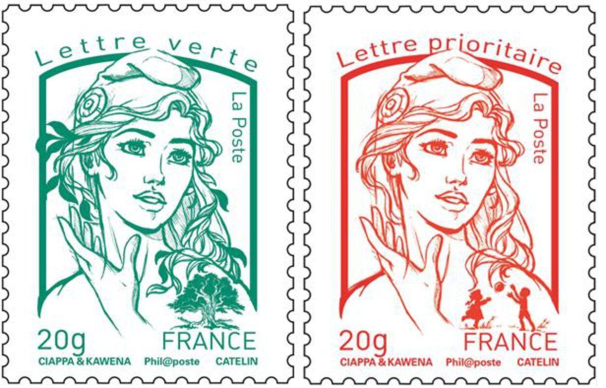 Photomontage des nouveaux timbres Marianne, présentés officiellement le 14 juillet 2013. – ABD RABBO-POOL/SIPA/SIPA