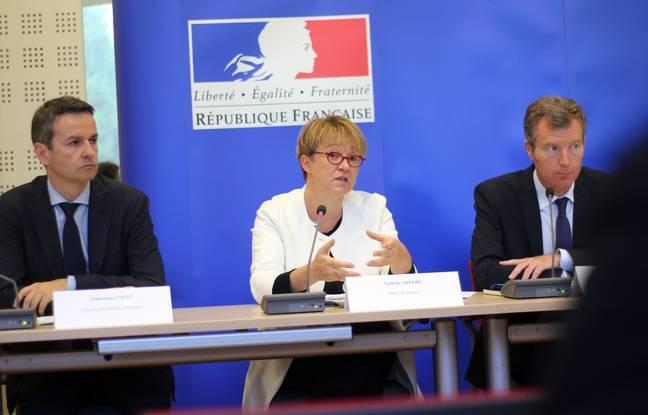 Le président de Rennes Métropole Emmanuel Couet, la maire de Rennes Nathalie Appéré et le préfet de Bretagne Christophe Mirmand, ici le 26 septembre 2016 à Rennes.