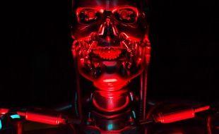 """Un robot """"T-800 Endoskeleton"""" d'une exposition """"ROBOT"""" au musée de la Science à Londres le 7 février 2017"""