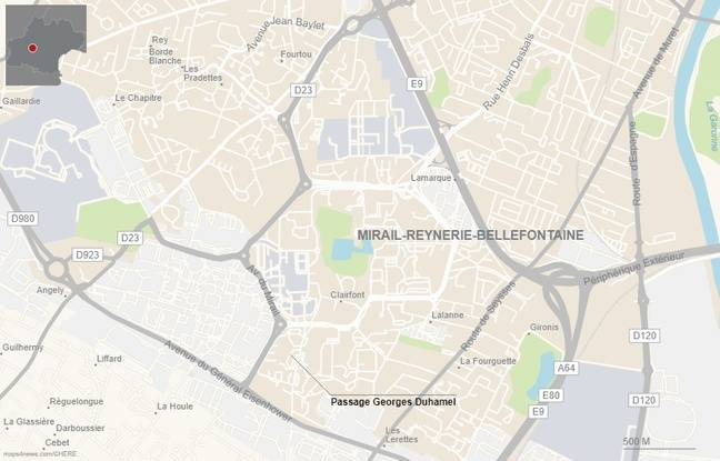 Le passage Georges-Duhamel, dans le quartier du Mirail, à Toulouse.