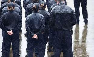 Des élèves de l'école de police de Nîmes (Archives)