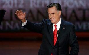 Le candidat républicain Mitt Romney, lors de son discours d'acceptation, à Tampa, en Floride, le 31 août 2012.