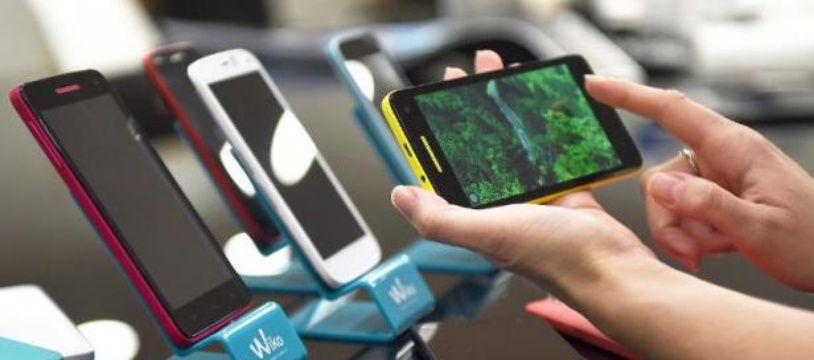 Un smartphone de la marque Wiko