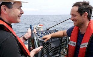 Opération d'immersion de grands crus dans l'Atlantique, le 28 juin 2015