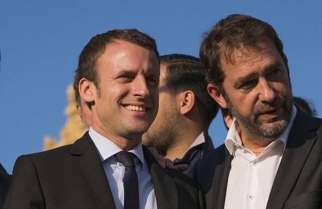 Emmanuel Macron et Christophe Castaner à Marseille, le 17 novembre 2016.