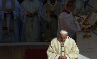 Le Pape François 1er lors d'une canonisation le 16 octobre 2016.