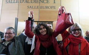 Céline Boussié, ancienne employée de l'IME de Moussaron, après sa relaxe, le 21 novembre 2017 au tribunal de Toulouse.