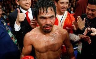 Le boxeur Philippin Manny Pacquiao, lors de son combat face à Miguel Cotto, à Las Vegas, le 14 novembre 2009.