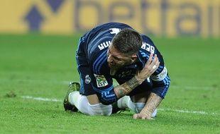 Sergio Ramos s'est blessé à la réception se sa retournée.