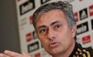 José Mourinho, l'entraîneur du Real Madrid, le 17 janvier 2012, à Madrid.
