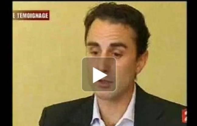 Capture d'écran du témoignage d'Hervé Falciani qui a fourni des données sur les évadés fiscaux aux autorités françaises.