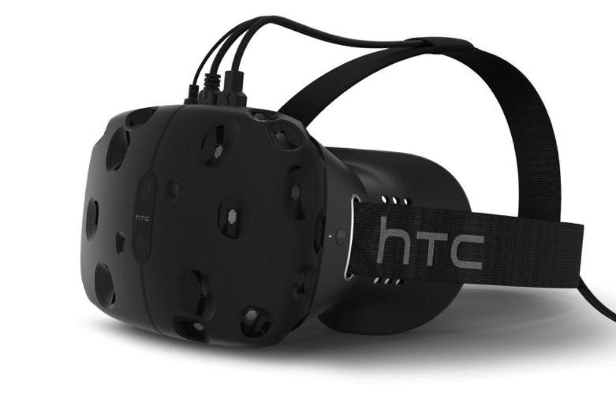 Le HTC Vive, casque de réalité virtuelle. – HTC