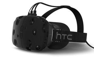 Le HTC Vive, casque de réalité virtuelle.