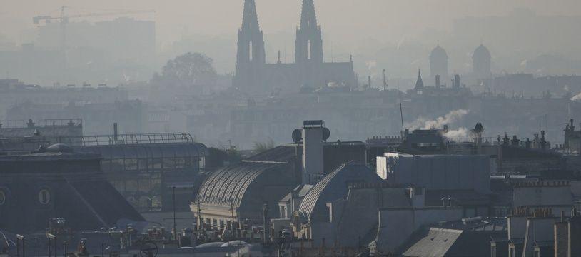 Illustration de la pollution à Paris.